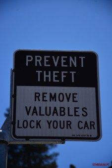Theft sign