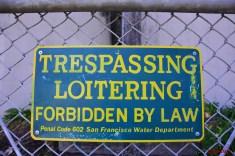 Loitering sign