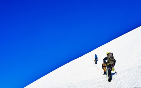 """Nearing the summit. """"I've learned that any dream worth dreaming is the dream with the uncertain outcome. If we knew we would be successful, if we knew it would be easy, if we knew it would be a certainty-filled challenge that was cozy and comfortable, without hardship and adversity, then what would be the point? This is how you induce transformation and growth. Conceive of the most outrageous dream, put it out there and activate your inner hero's journey. Where comfort zones are obliterated, extraordinary life experiences begin."""" – Elia Saikaly"""