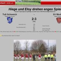 Screenshot Website SV Morbach - 5VIER