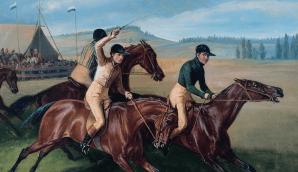 Abb.: Simon Meister: Pferderennen, 1837, Stadtmuseum Simeonstift Trier