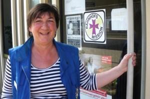 Beate Schroeder, Leiterin der Bahnhofsmission (Foto: Ingrid Ewen) - 5VIER