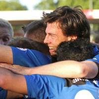 20110525 Pokal Eintracht Trier - TuS Koblenz, Jubel, Hollmann, Bitburger Rheinlandpokal, Foto: Anna Lena Bauer - 5VIER