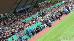 20110730 Eintracht Trier - St. Pauli, DFB Pokal, Tribüne, Foto: Anna Lena Bauer - 5VIER