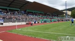 20110730 Eintracht Trier - St. Pauli, Haupttribüne, DFB Pokal, Foto: Anna Lena Bauer - 5VIER