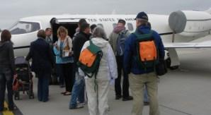 Einen Learjet als privates Transportmittel kann sich kaum jemand leisten (Foto: Ingrid Ewen) - 5VIER