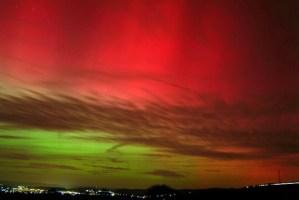 Polarlichter über Trier. Foto: Sternwarte Trier - 5VIER