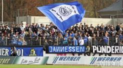 20111029 Eintracht Trier - RW Essen, SCT Fahne, Fans, Regionalliga West, Foto: Anna Lena Grasmueck - 5VIER