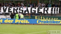 20120511 Eintracht Trier - Lotte, Regionalliga West, Spruchband, Versager, Foto: Anna Lena Grasmueck - 5VIER
