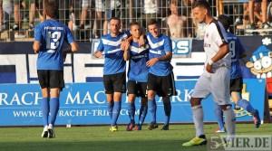 20120822 Eintracht Trier - Eintracht Frankfurt II, Jubel, abelski, FAZ, Regionalliga Suedwest, Foto: Anna Lena Grasmueck - 5VIER