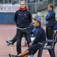 20120831 Eintracht Trier - Wormatia Worms, Trainer Worms, Regionalliga Suedwest, Foto: Anna Lena Grasmueck - 5VIER