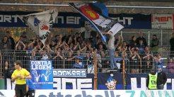 Die Eintracht-Fans hoffen, dass die Partie gegen Freiburg II am Samstag im Moselstadion stattfinden kann. Foto: 5vier.de - 5VIER