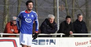 Mehrings Spielertrainer Dino Toppmöller fehlte weiterhin verletztungsbedingt. Foto: Sebastian Schwarz