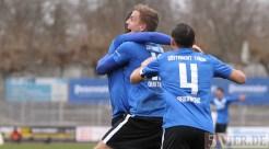 20130310 Worms - Eintracht Trier, Regionalliga Suedwest, Jubel, Quotschalla, Pagenburg, Foto: www.5vier.de - 5VIER