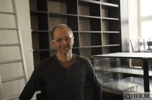 Hat noch ein bisschen Arbeit vor sich: Wolfgang Becker im zukünftigen Deli von Beckers XO. Foto: Lars Eggers