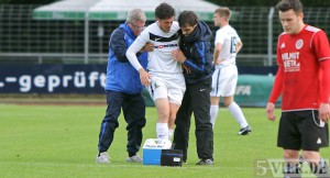 Verletzung Torge Hollmann beim Pokalfinale