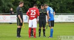 20130628 Testspiel SVE - Fola Esch, Eintracht Trier, Dingels, Schiri, Foto: 5vier.de - 5VIER