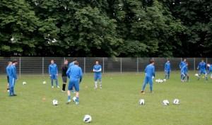 Trainingseinheit am Freitagvormittag. Foto: 5vier.de