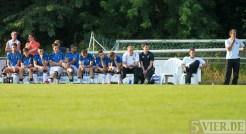 20130716 Testspiel Eintracht Trier - Grevenmacher, Mannschaft, Ersatzbank, Trainer, Foto: 5vier.de - 5VIER
