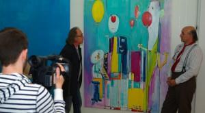 Links im Bild Moderator Axel Schweiss und rechts Roland Grundheber, Foto: OK 54