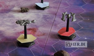 Das Spielmaterial von Interstellar Mayhem kann sich sehen lassen... Foto: Stephan Nestel - 5VIER