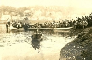 Foto Fähre Pallien, letzte Fahrt 1913, Foto Karl-Heinz Zimmer - 5VIER
