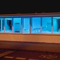 Die Wellen-Installation bei Nacht. Foto: Michelle Mißler - 5VIER