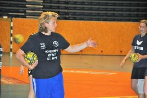 Daniela Filip trifft ihre neue Mannschaft. 5vier-Fotos: Franzi Garcia