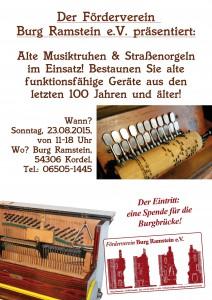Poster Musikinstrumente Burg Ramstein