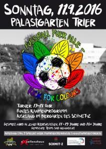 Kick of Colours, Foto: Exzellenzhaus e.V. – Kinder, Jugend, Kultur - Fanprojekt Trier - - 5VIER