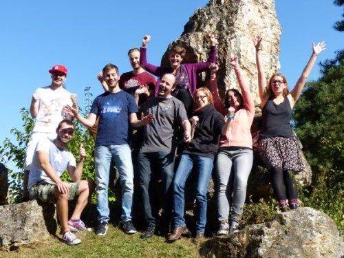 v.l.n.r: Erik, Pascal, Andreas, Thomas, Dominik, Anna, Tamara, Manon, Sara, Foto: Marie Baum