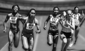 Staffellauf Frauen, Start,