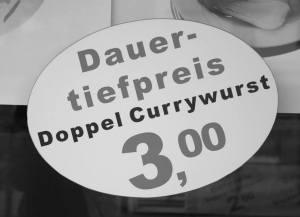 Die Currywurst - für viele ein Grundnahrungsmittel