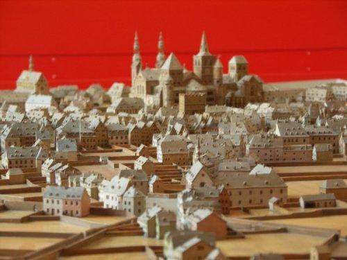 Abbildung: Stadtmodell Trier um 1800 (Detail). © Stadtmuseum Simeonstift Trier