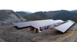 Ökostrom wird auf einer Industriebrache in der Eifel produziert.