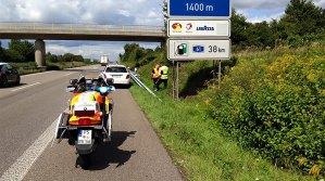 """Risikoeinsatzgebiet """"Autobahn"""" für die Motorradstaffel"""