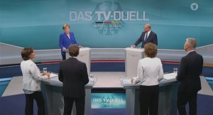 Viel Harmonie beim TV-Duell zwischen Angela Merkel und Martin Schulz