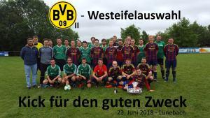 Die Westeifelauswahl trifft auf Borussia Dortmund II. Foto: Ilija Kozulovic
