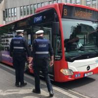 Kontrolle Maskenpflicht in Bussen durch Ordnungsamt Trier