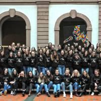 Die Abiturientinnen 2020 des AMG Trier