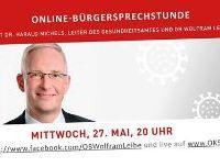 Online-Sprechstunde mit OB Leibe und dem Leiter des Gesundheitsamtes Dr. Michels
