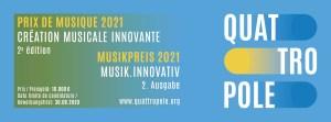 Quattropole Musikpreis 2021 Plakat