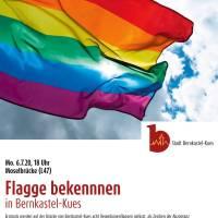 Flagge bekennen für ein vielfältiges und buntes Miteinander in Bernkastel-Kues