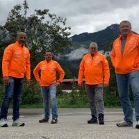 #8Freunde wandern zum dritten Mal für nestwärme e.V. über die Alpen - Anreise und Tag 1
