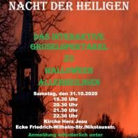 """Das interaktive Gruselspektakel zu Halloween """"Nacht der Heiligen"""" Foto: Projekt Initiative Kulturelle Diakonie"""