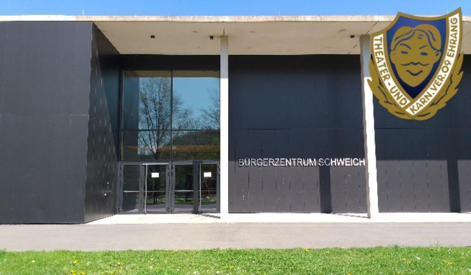 """Die Stadthalle im Bürgerzentrum Schweich ist die neue Spielstätte des Theater- und Karnevalsverein """"Blau-Weiß"""" 09 Ehrang e.V. Bildquelle: Theater- und Karnevalsverein """"Blau-Weiß"""" 09 Ehrang e.V."""