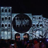 Die Porta Nigra bei der Illuminale 2021. Bildquelle: TTM, Fotograf: Victor Beusch
