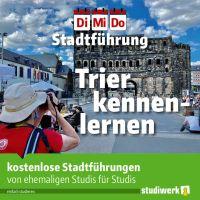 Das Studierendenwerk Trier bietet zusammen mit der TTM Stadtführungen von Studis für Studis an. Bildquelle: Studierendenwerk Trier