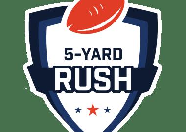 5 Yard Rush Logo White
