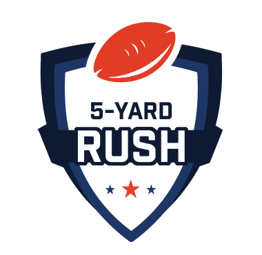 5 Yard Rush Logo White